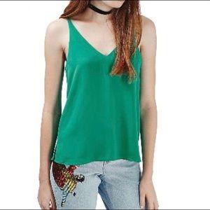 Topshop double strap v-back camisole